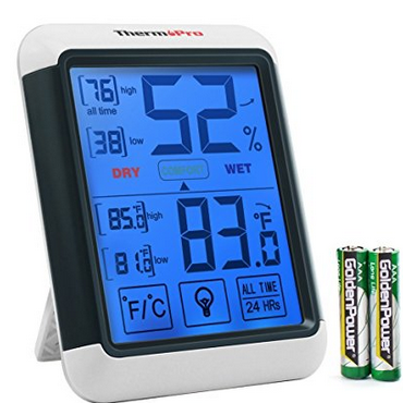 Combined Thermometer Hygrometer for home cheese making