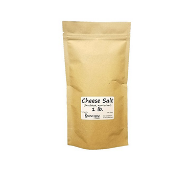 Non-iodized, fine flaked cheese salt for cheese making