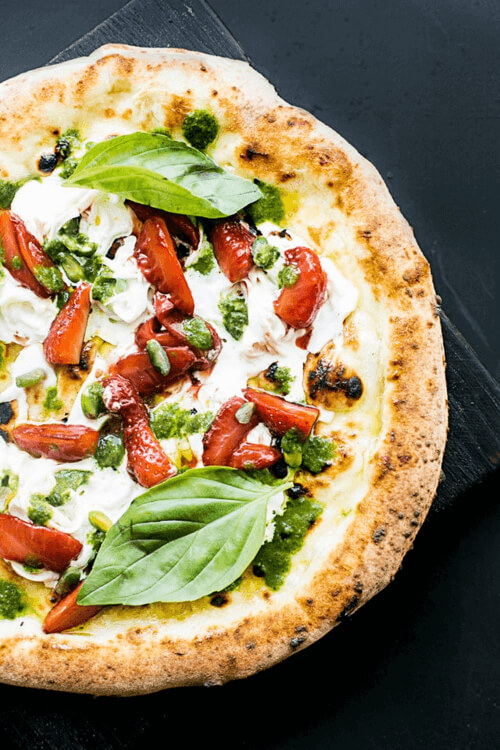 Chevre is a great option for people who are lactose intolerant who wants to eat pizza