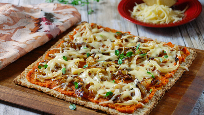 Gouda makes the best cheese for pizza list and is especially good with toppings